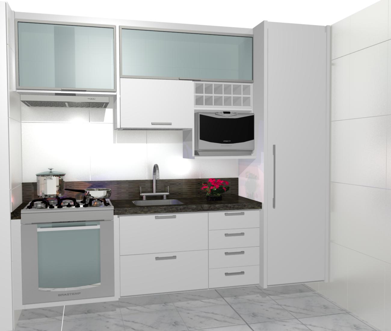 Cozinha Planejadas Pequenas Decorada Americana Modulada Luxo Moderna