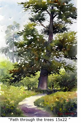 Marie Gabrieller Watercolor Landscape Paintings Art Painting