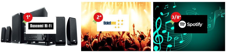 Siete appassionati di musica e spettacoli? Partecipate al concorso e potreste essere voi a vincere 2 voucher Ticket One da 250 euro!