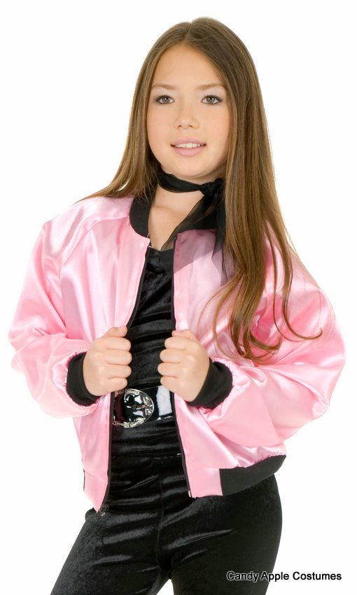 5c08b3c142f Child s 50 s Pink Satin Jacket - Candy Apple Costumes - Girls  Costumes