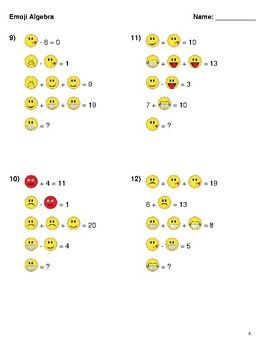 Emoji Logic Puzzles   - Math Explorations -   Math logic