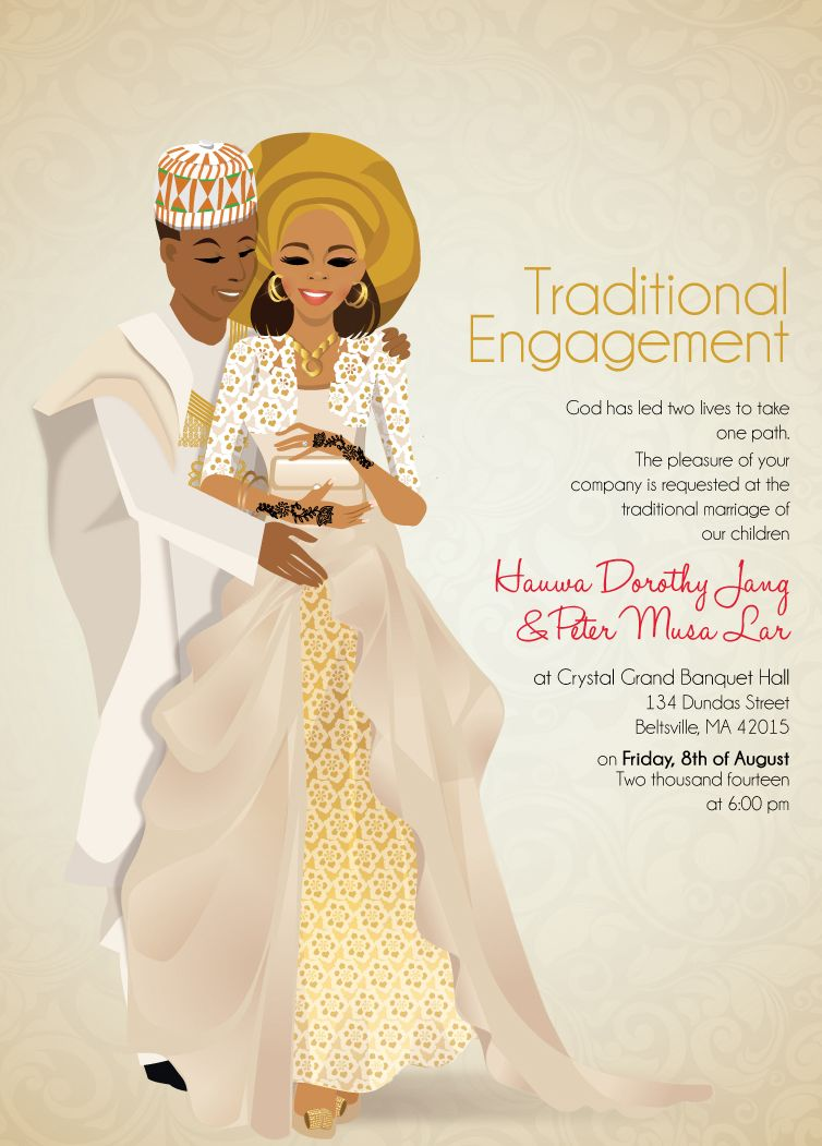 miji nigerian hausa traditional wedding invitation