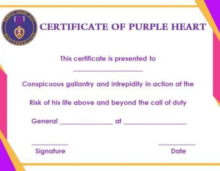 free purple certificate template