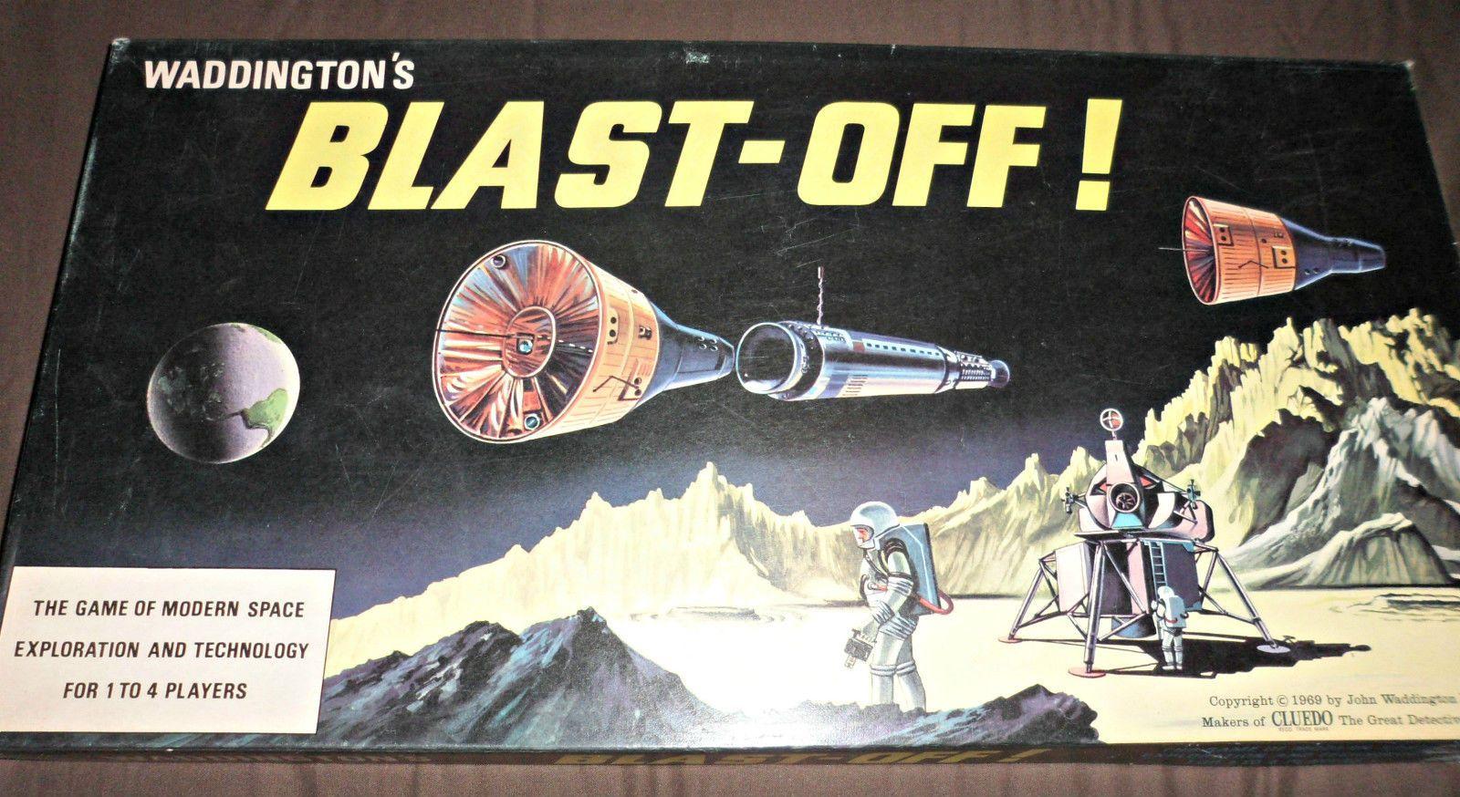 Blast Off game Waddington, Board games, Space games