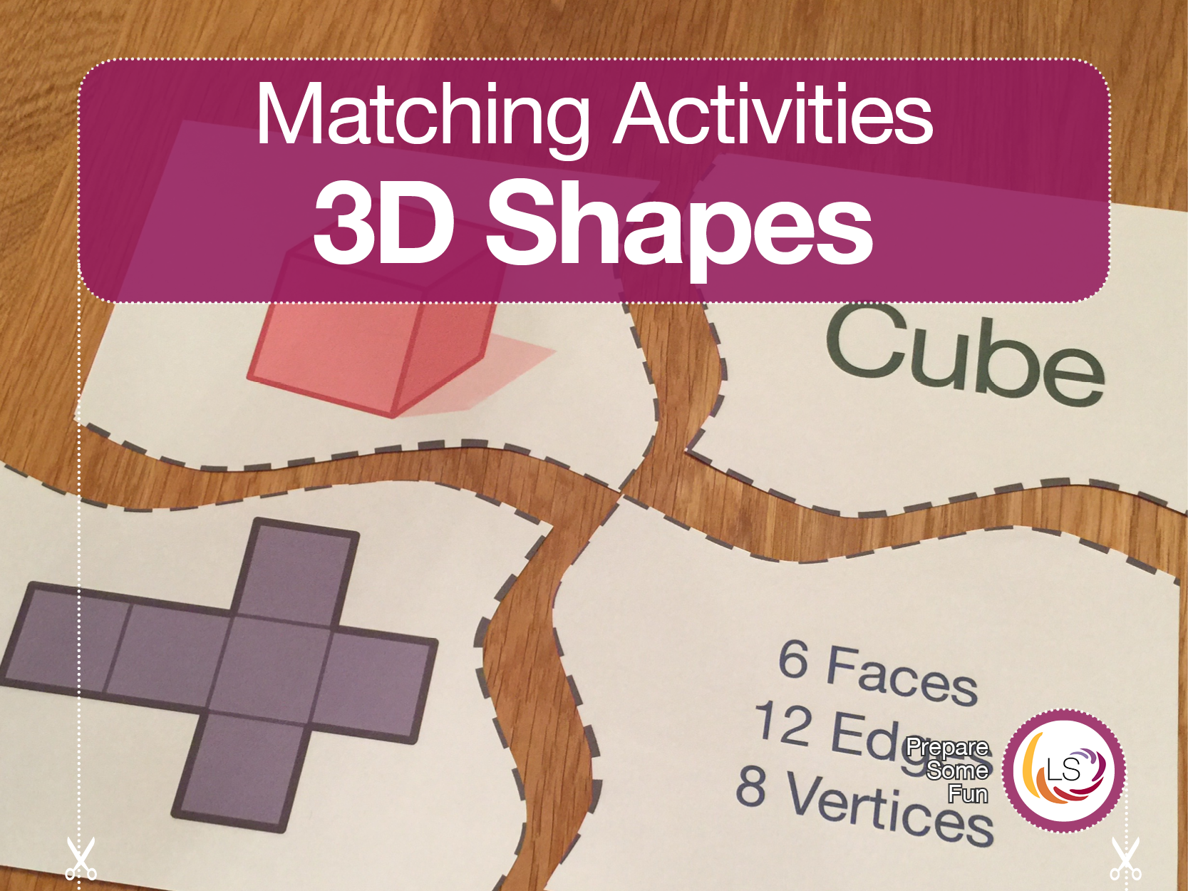 3d Shapes Puzzle With Nets And Properties