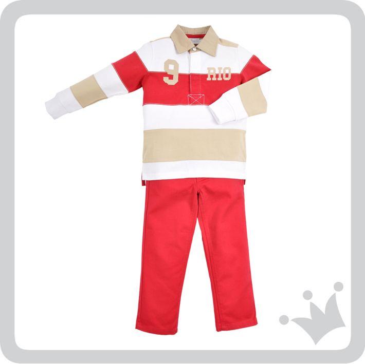 El rojo, un color que vibra de energía, es el recomendado del día para los niños. ¿Qué les parece este look EPK? #epkmegusta  http://www.shopepk.com.co/index.php?page=shop.product_details&flypage=flypage_look.tpl&product_id=743&category_id=169&option=com_virtuemart&cat=32&Itemid=69