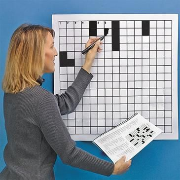 Laminated Blank Crossword Puzzle Grid Language arts, Language and - blank puzzle template