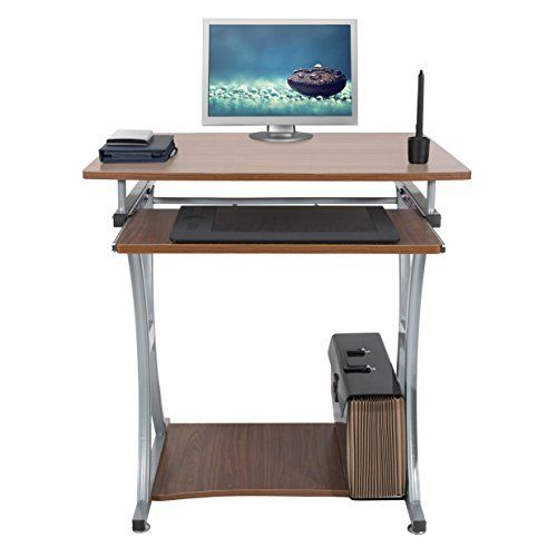 Computertisch modern  Mari Home - Deveron Nussbaum Computerschreibtisch Computertisch ...