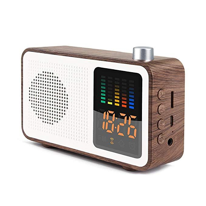 179908a89 SEATIGER Retro Portable Bluetooth Speaker with Digital Alarm Clock Radio