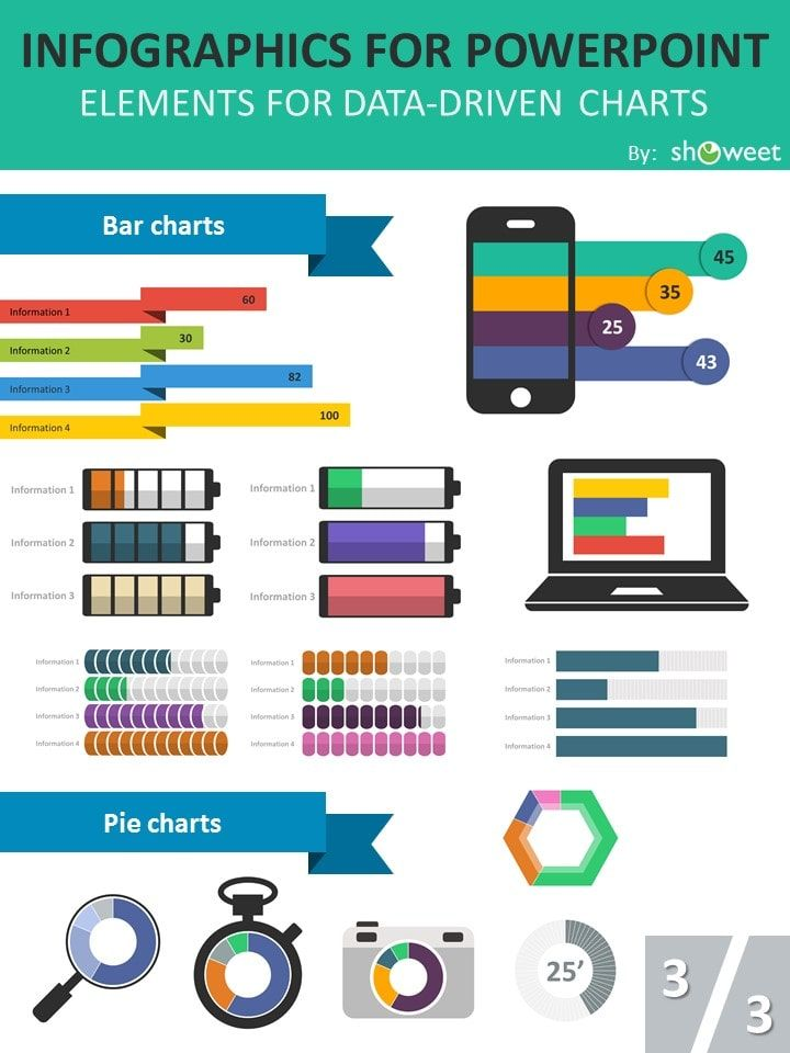 Free Charts And Infographics Powerpoint Templates  Technology