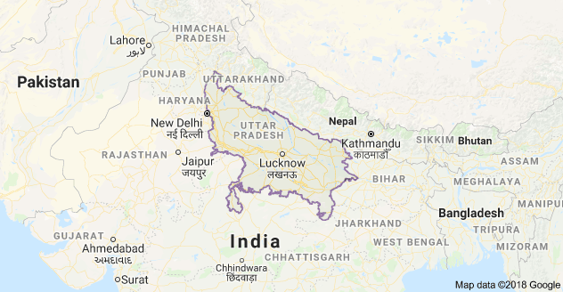 India Map With Directions.Map Of Uttar Pradesh India Map