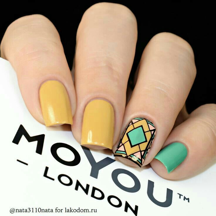 If All The Nails Were Green With That Art Deco Mosaic Accent