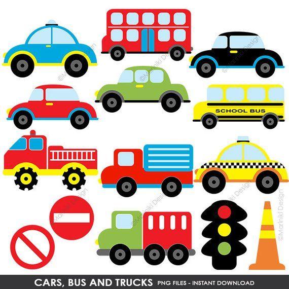 Cars Bus Trucks Clipart Transportation Clip Art On The Road Road