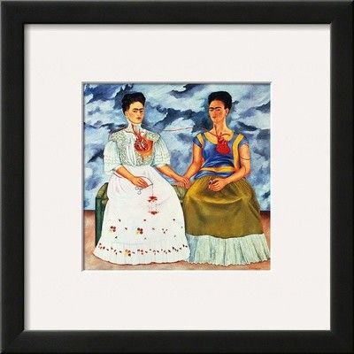 'The Two Fridas, c.1939' by Frida Kahlo Framed Painting Print