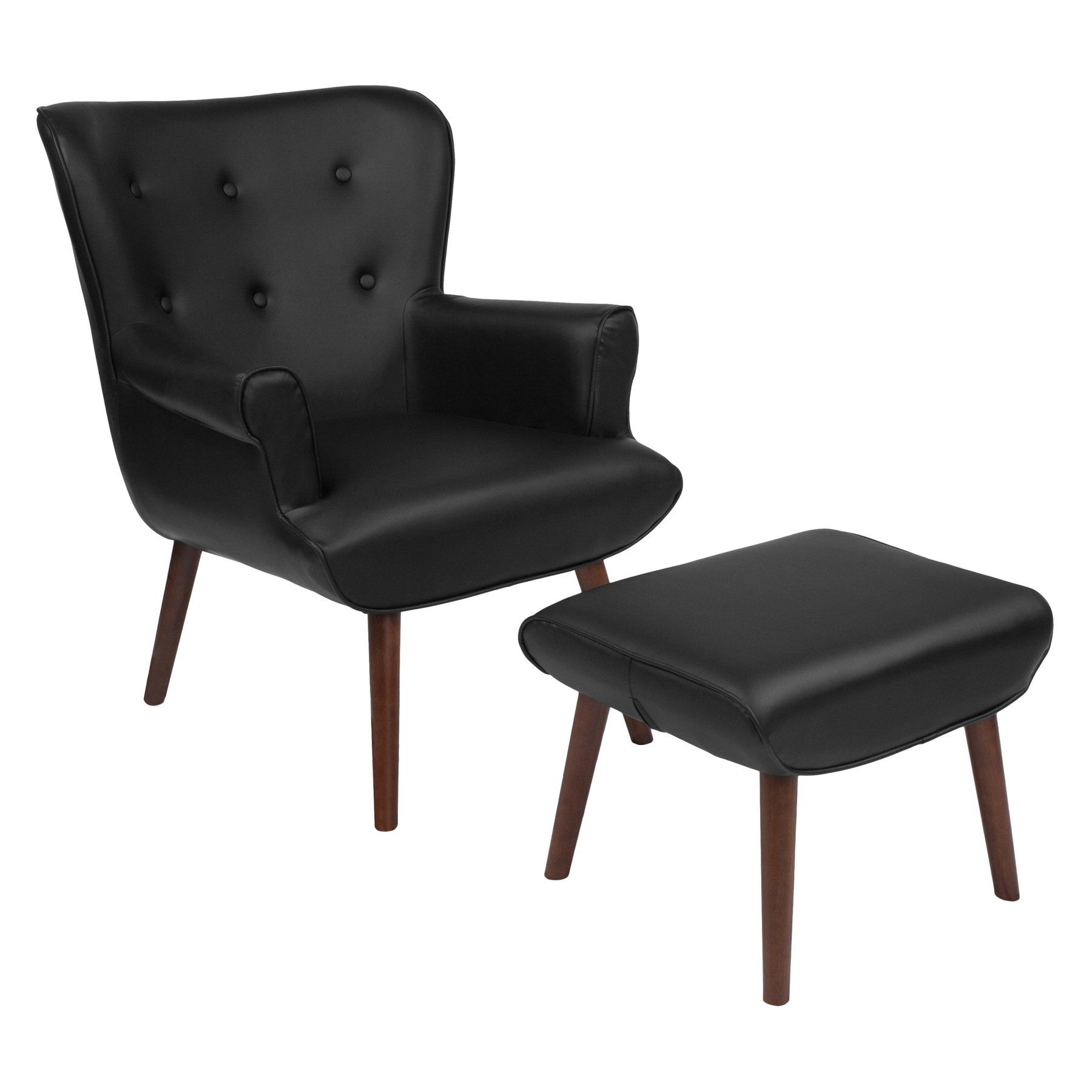 Cool Flash Furniture Bayton Upholstered Leather Wingback Accent Ibusinesslaw Wood Chair Design Ideas Ibusinesslaworg