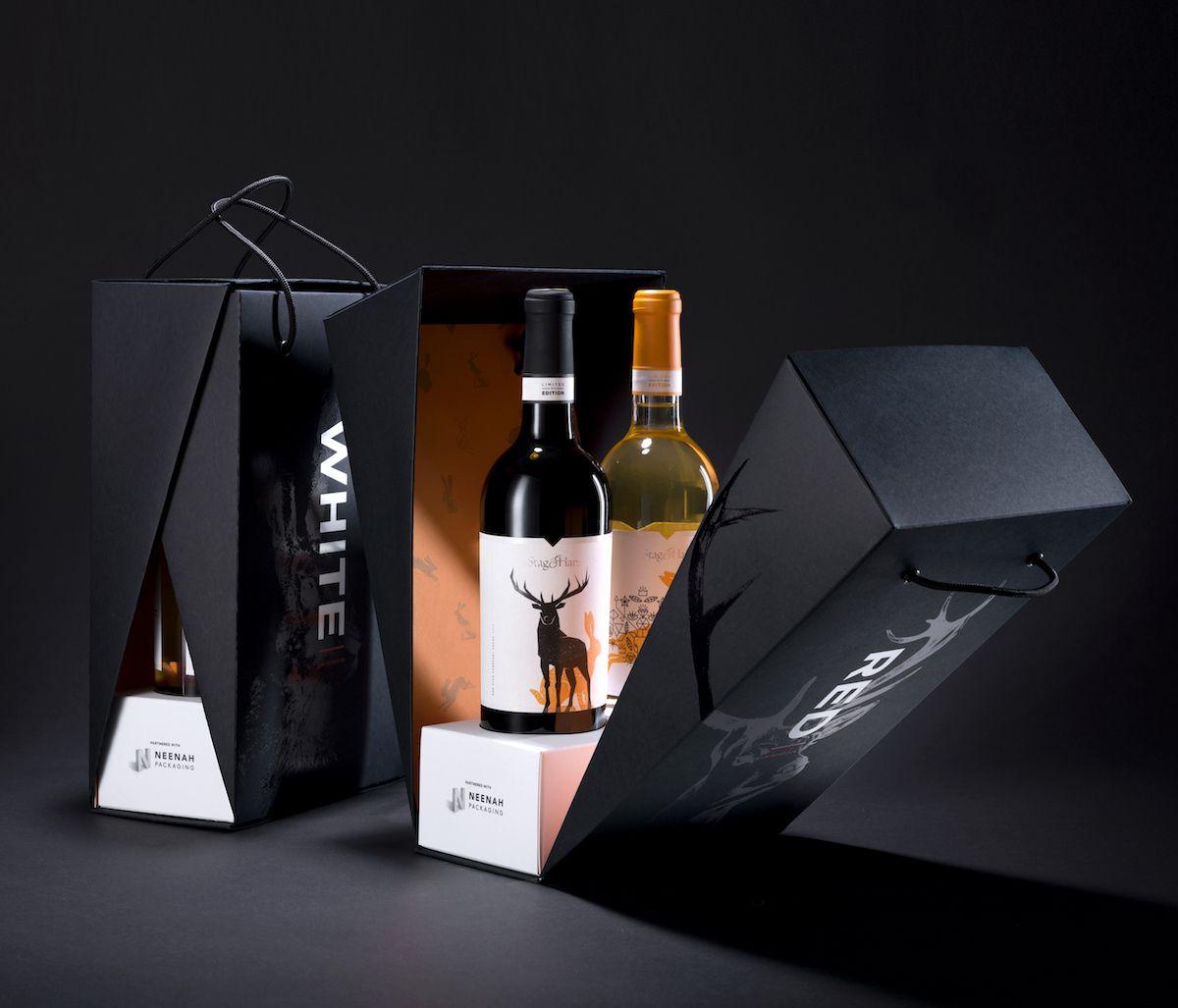 Stag Hare Wine Luxury Packaging Design Wine Packaging Custom Wine Box