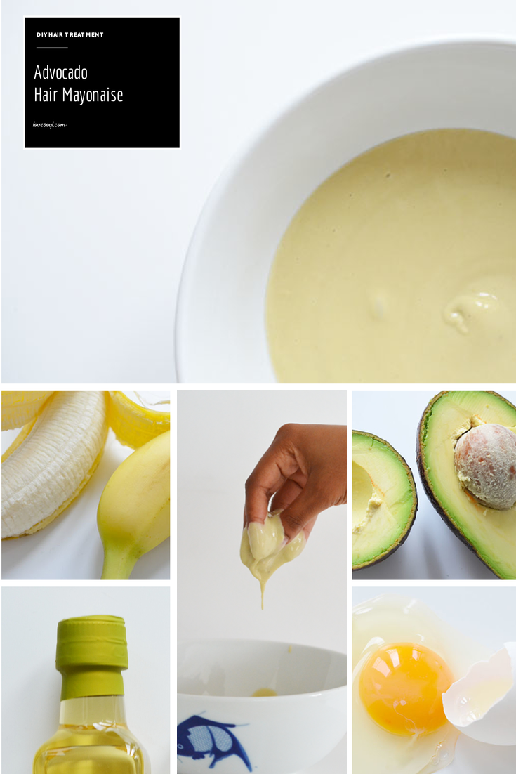 Diy Haarkur Diy Hair Treatment Avocado Banana Mayonaise Bio Haarkur
