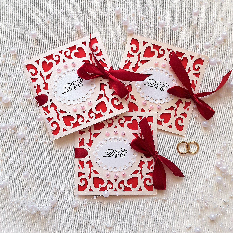 Ажурные пригласительные айвори с инициалами.   Wedding invitations ...