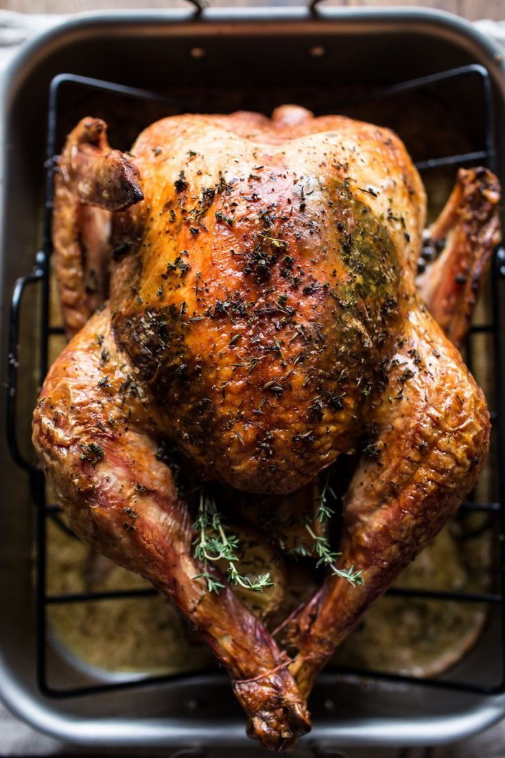 Herb And Butter Roasted Turkey With White Wine Pan Gravy