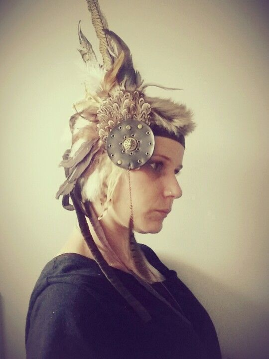Tribal feather headpiece