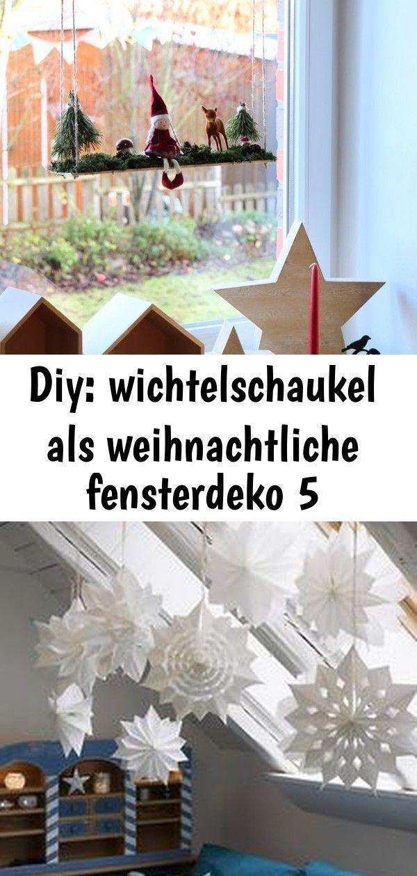 Diy: wichtelschaukel als weihnachtliche fensterdeko 5 – #fensterdeko #weihnachtl…