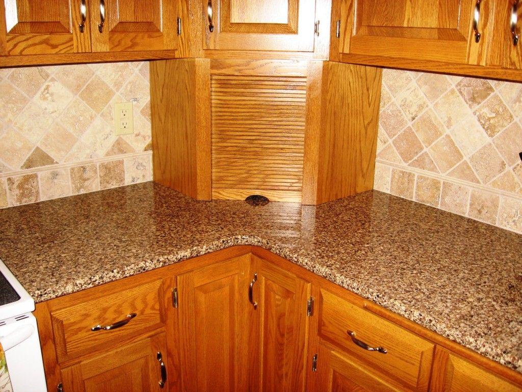 Awesome Interior Kitchen Raw Silk Granite Countertop With Granite Countertop Edges Full Bullnose Ide Kleine Kuchenschranke Arbeitsflachen Dunkle Kuchenschranke