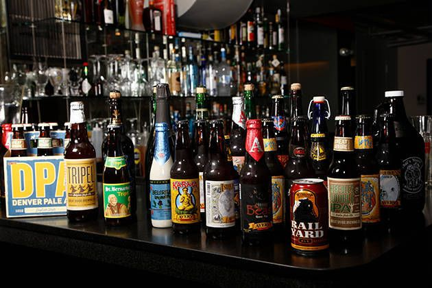 "A sampling of Denver beers  Take a beer tour in what the Denver website dubs the ""Napa Valley of Beer."""