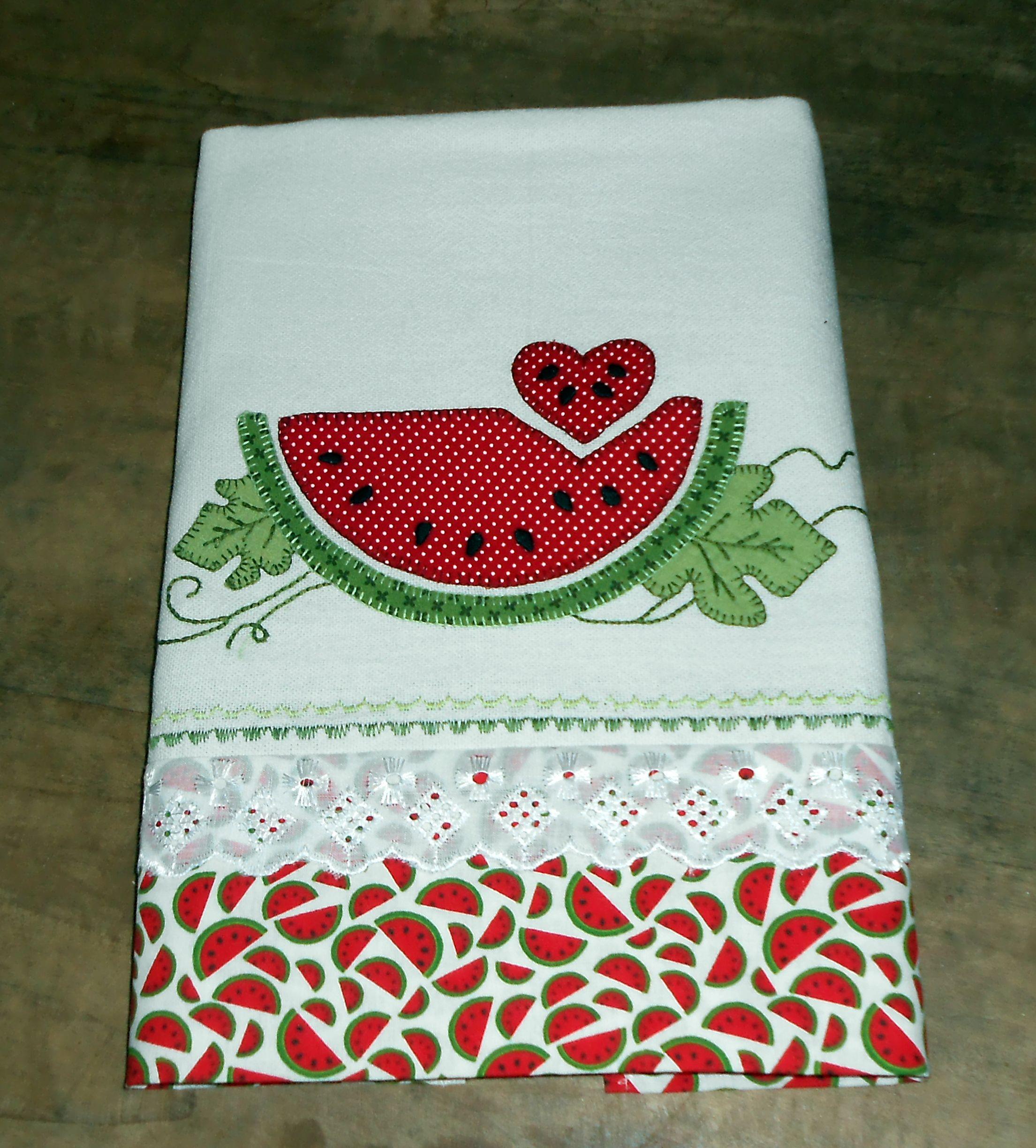 Pano de prato atelie biacriz e arte panos de prato - Colgador de tela con bolsillos ...