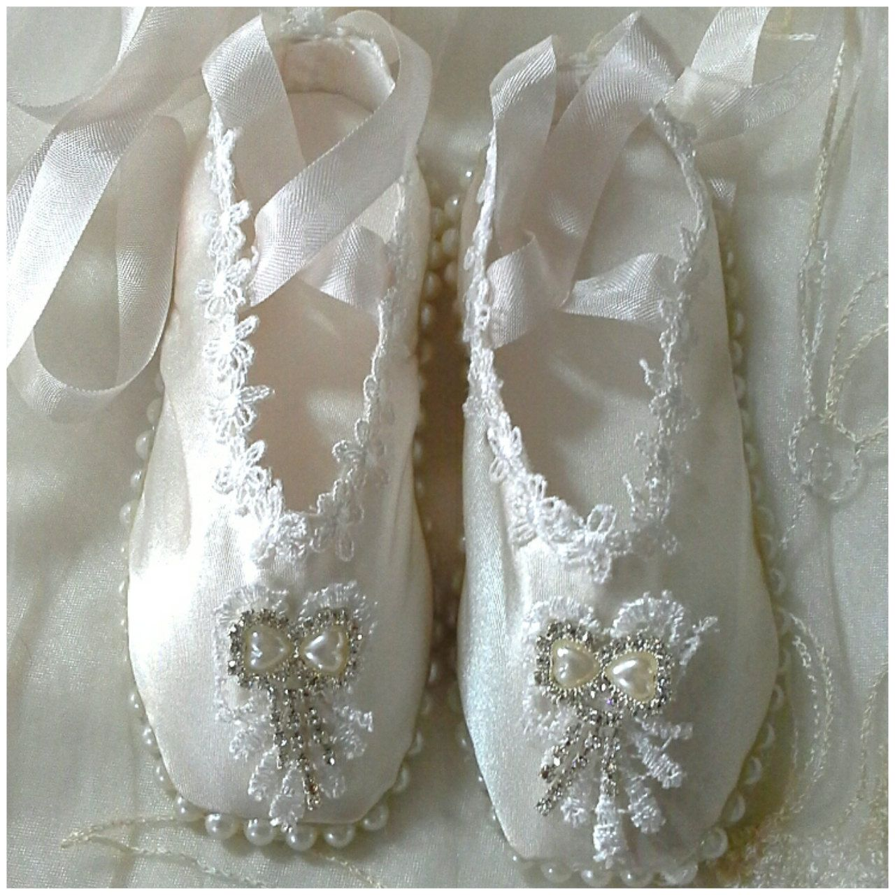 Handmade shabby chic ballet shoes ballet slippers for Ballet shoes decoration