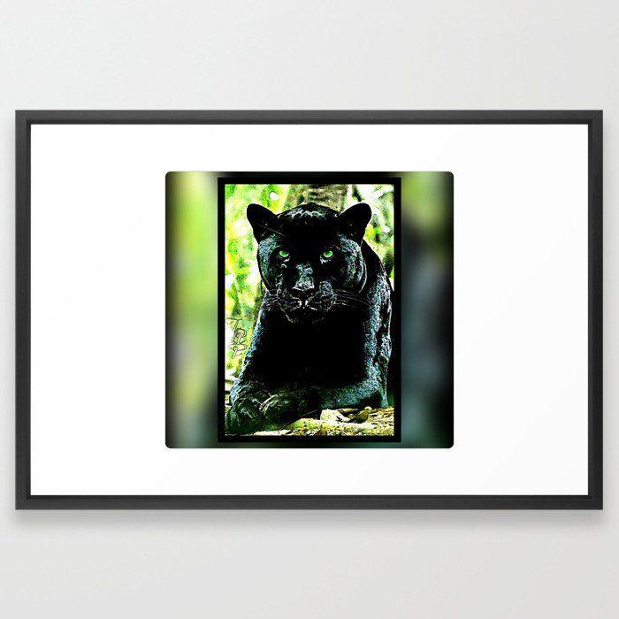 Green Eyed Cat Large Wall Art Poster Print