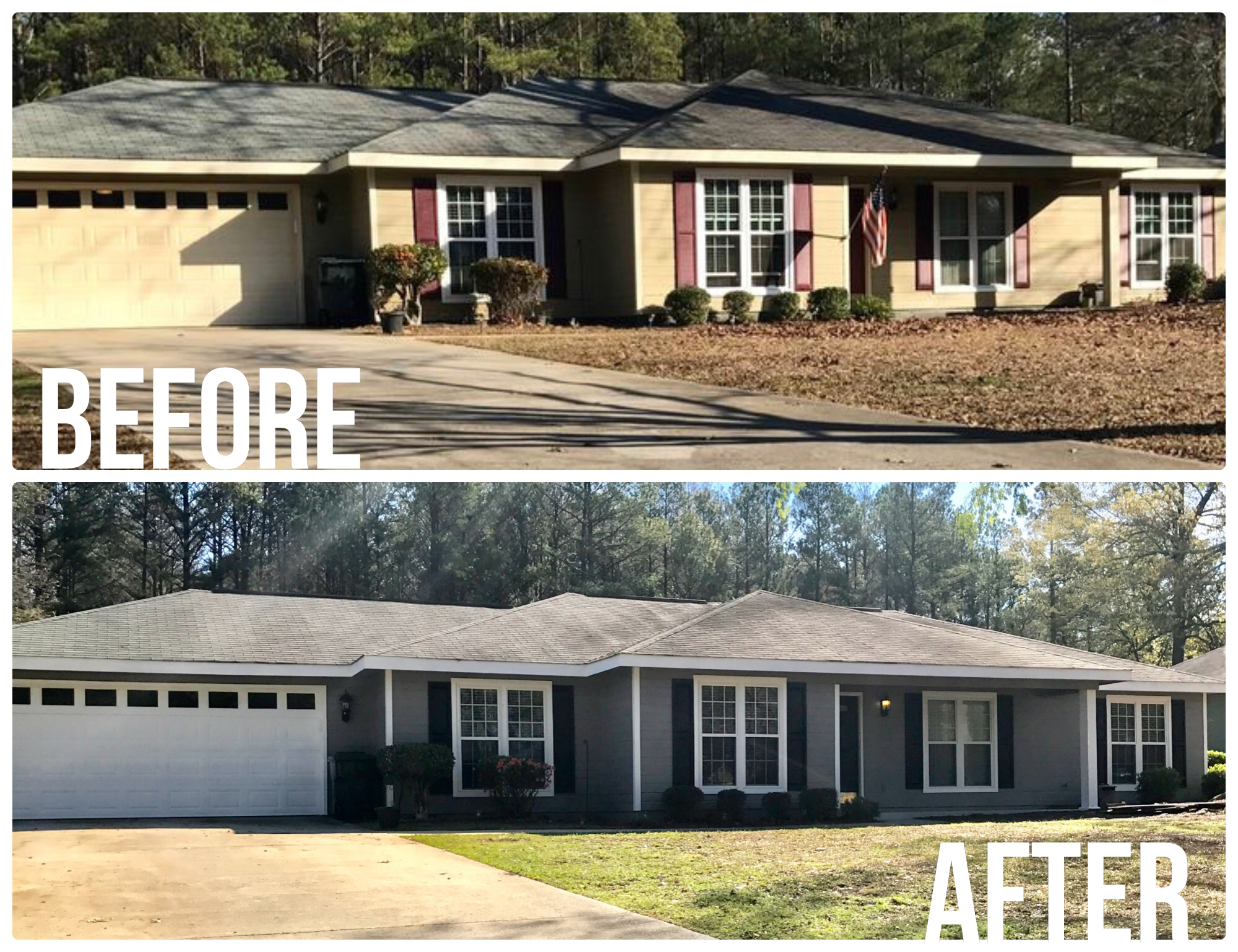 Exterior Home Update Body Sherwin Williams Dovetail Shutters And Doors Sherwin Williams