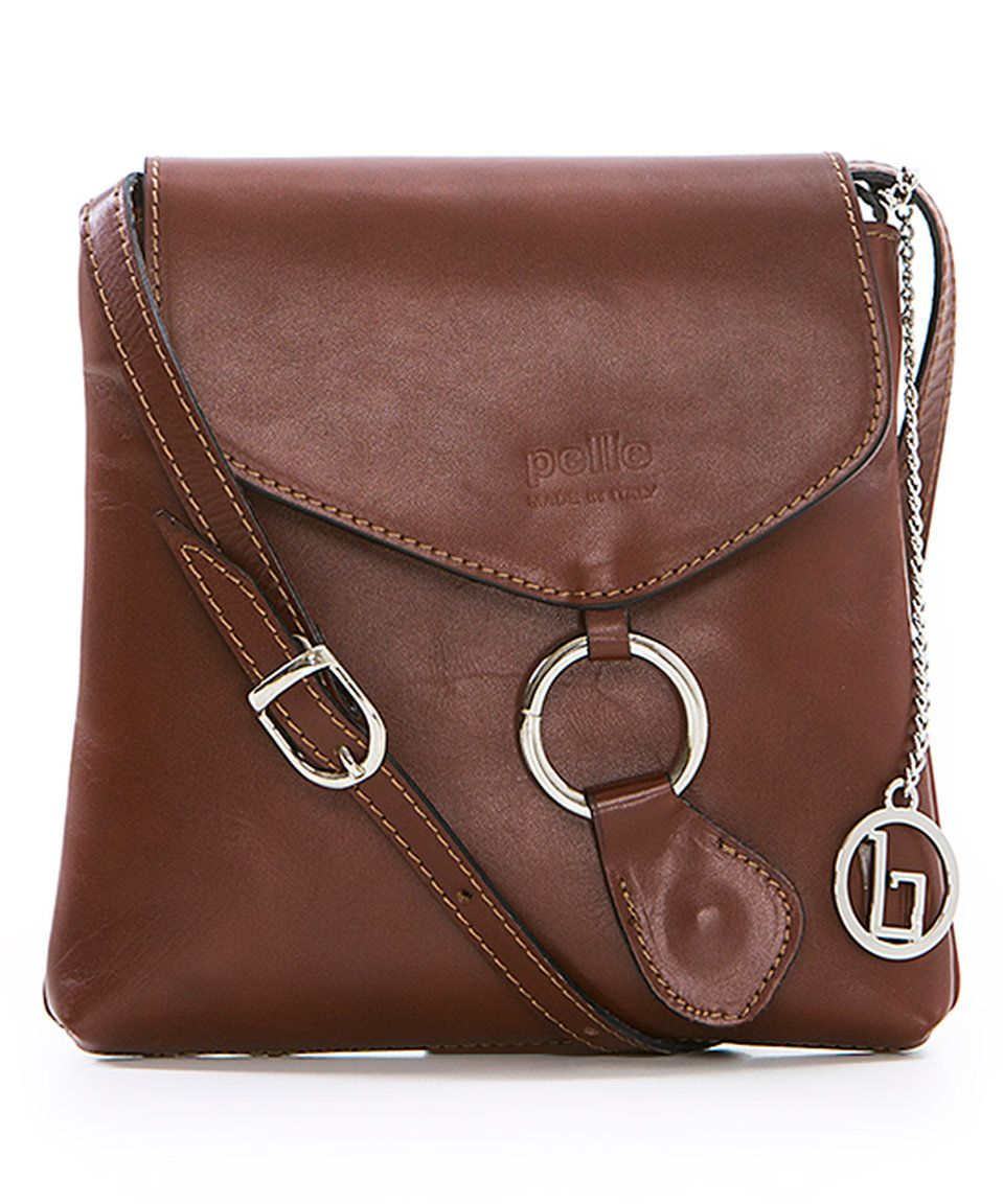 b4d31e20370ed Take a look at this Lia Biassoni Brown Leather Crossbody Messenger Bag  today!