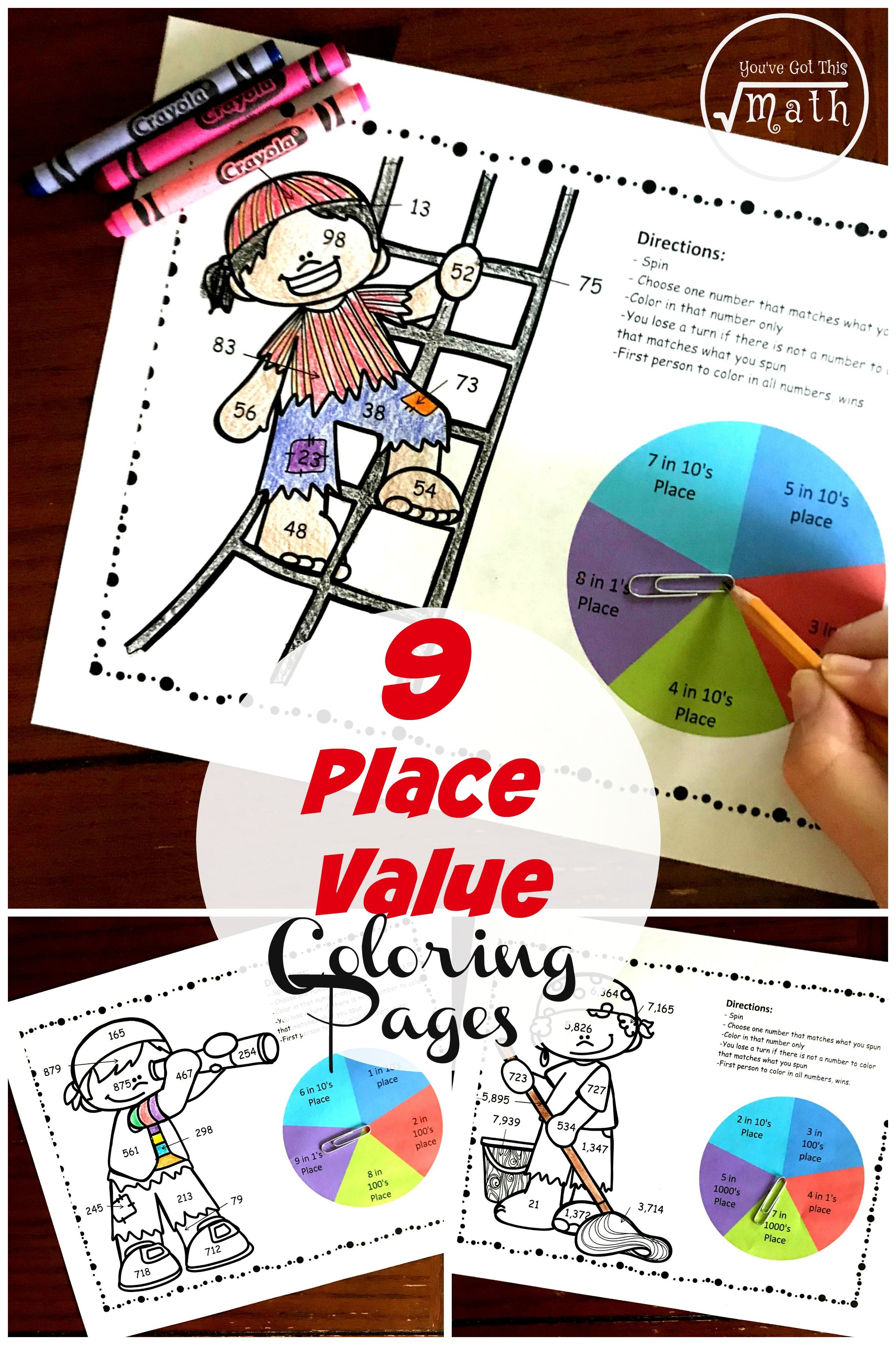 2 Nbt A 1 Place Value Pirate Coloring Game