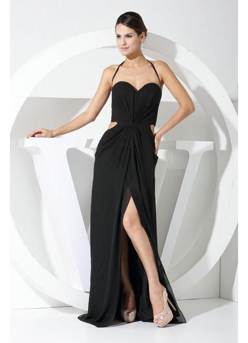 Long Black Backless Evening Dress Uk Beautiful Dresses Pinterest