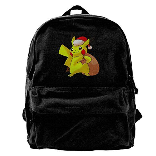Pikachu Christmas Santa Womens Black Casual Waterproof Sport Adjustable Strap Backpack *** You can find more details by visiting the image link.