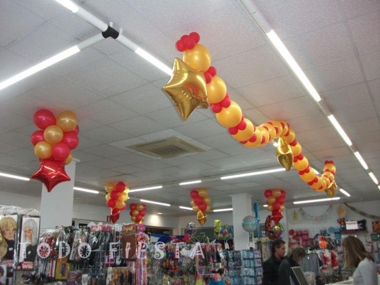 Bajada de techo con globos buscar con google - Decoracion de techos ...