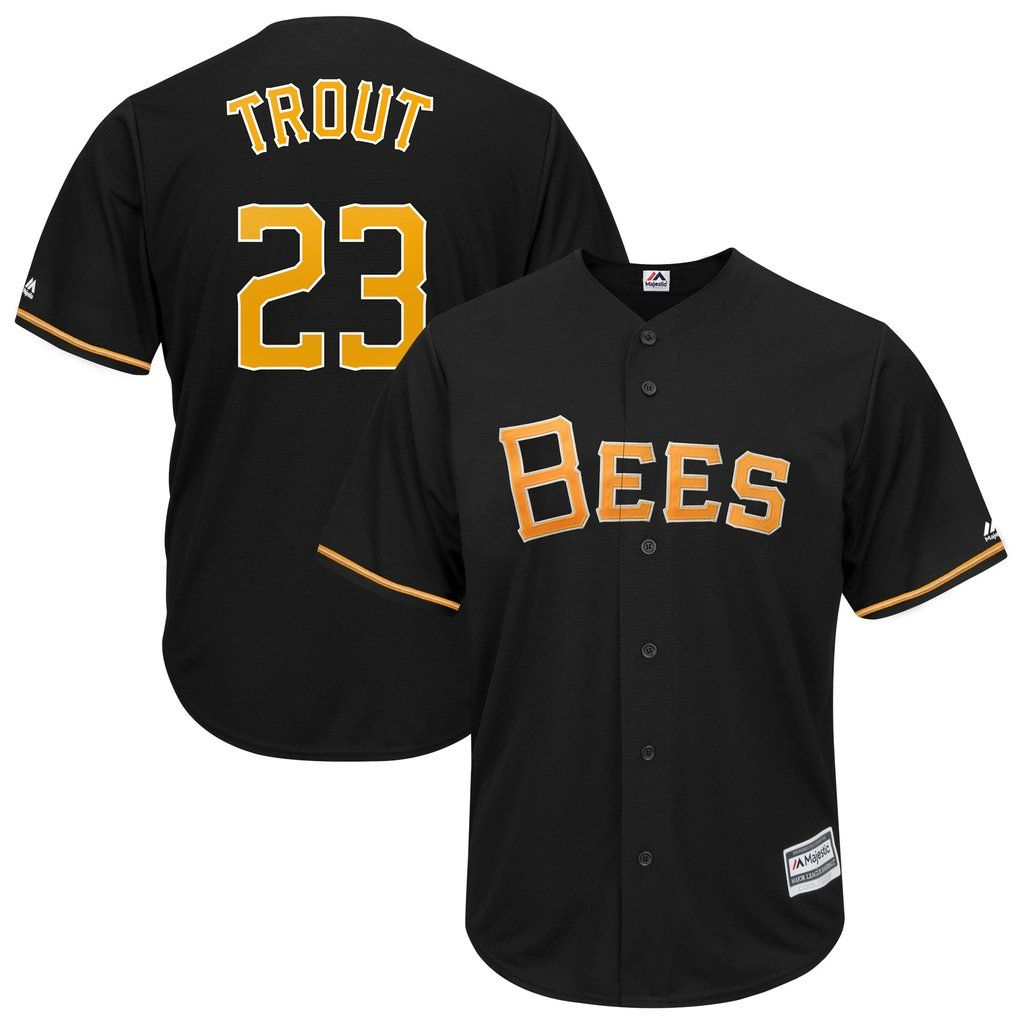 Salt Lake Bees Mike Trout 23 Black Cool Base Jersey