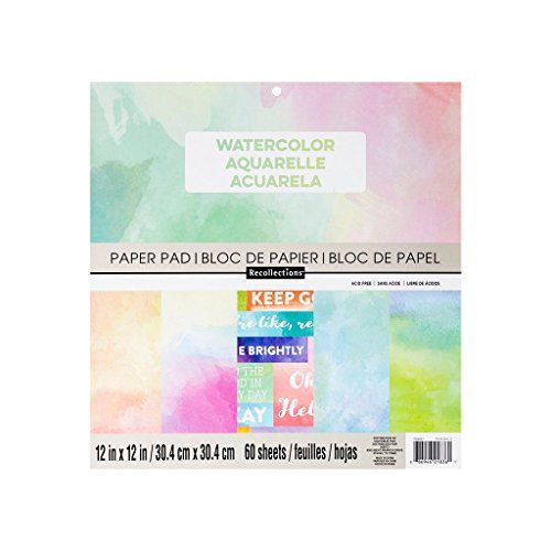 Watercolor 12 X 12 Paper Pad By Recollections 60 Sheets Read