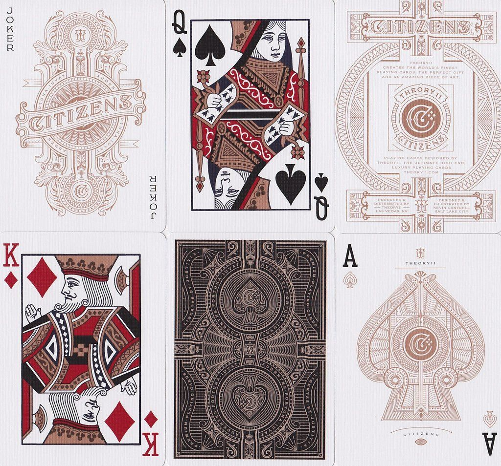 Citizens Playing Cards by Theory 11 Collectible Playing Cards USPCC Poker
