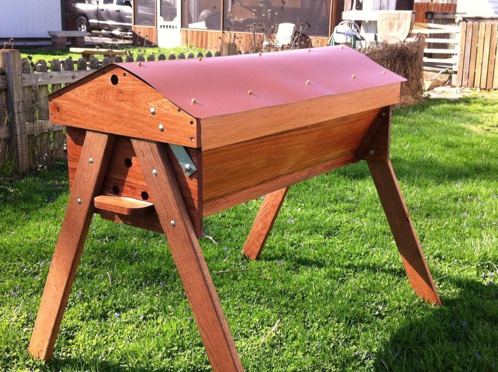 Classic Copper PennyTop Bar Garden Beehive Kit Beekeeping Honey Bee Hive  Pollen #SuperiorBeeSupplyLLC