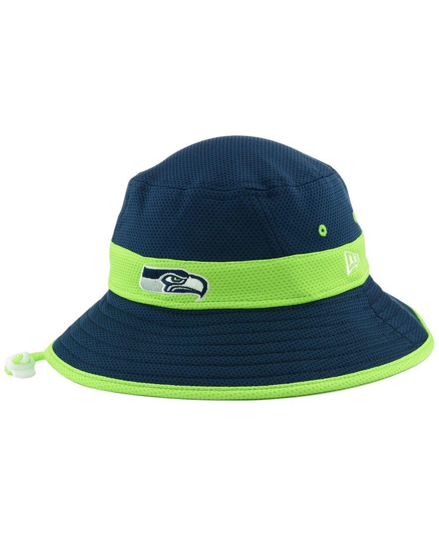 New Era Seattle Seahawks Training Camp Reverse Bucket Hat | Products ...