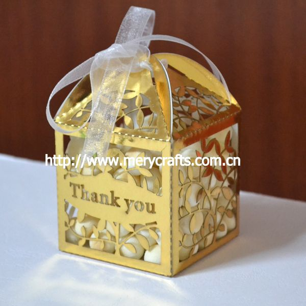 Online Wedding Favors Gift Box Leaves Metallic Gold Favor Bo For Candy And Souvenirs