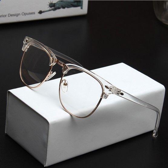 674684c01e5 2016 Wholesale Men Brand Design Vintage 3016 Transparent Eyeglasses Frame  Women Myopia Optical Reading Glasses Frame Oculos-in Eyewear Frames from  Men s ...