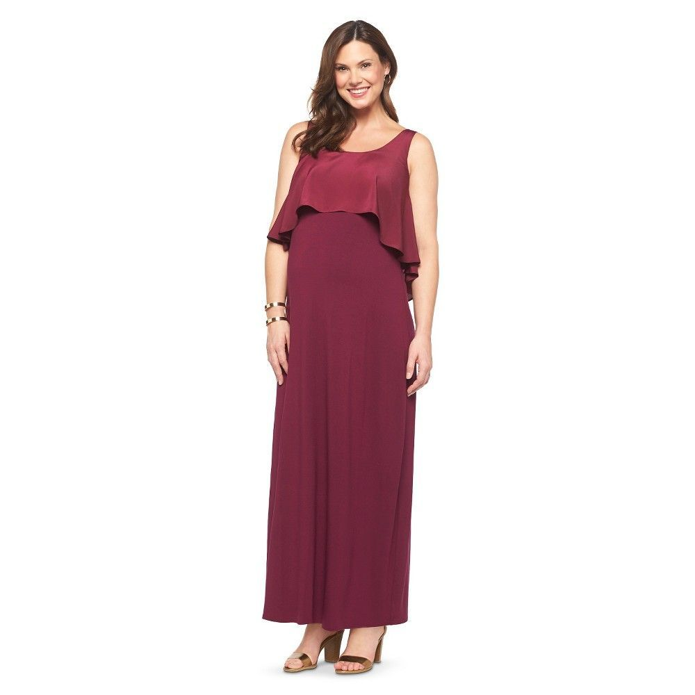 Maternity sleeveless tier maxi dress products pinterest maternity sleeveless tier maxi dress red l liz lange for target infant girls size large wild cherry ombrellifo Gallery