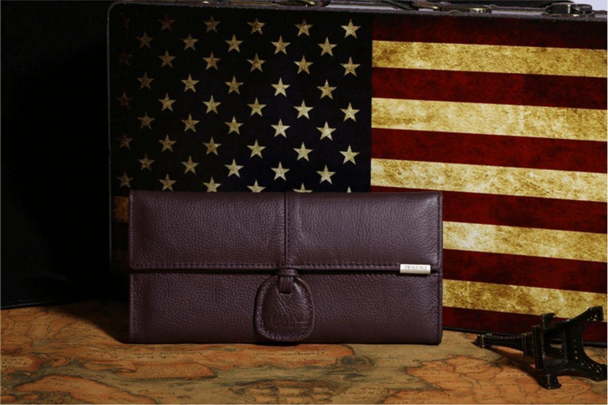 Genuine Leather Long Women's Wallet