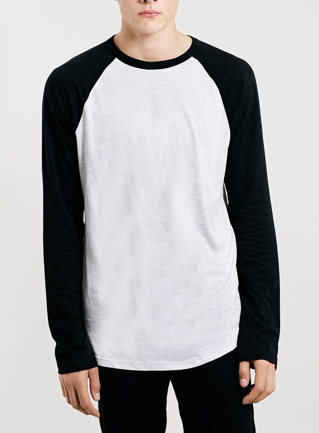 FROST/BLACK CONTRAST RAGLAN LONGSLEEVE T-SHIRT | Eric Style ...