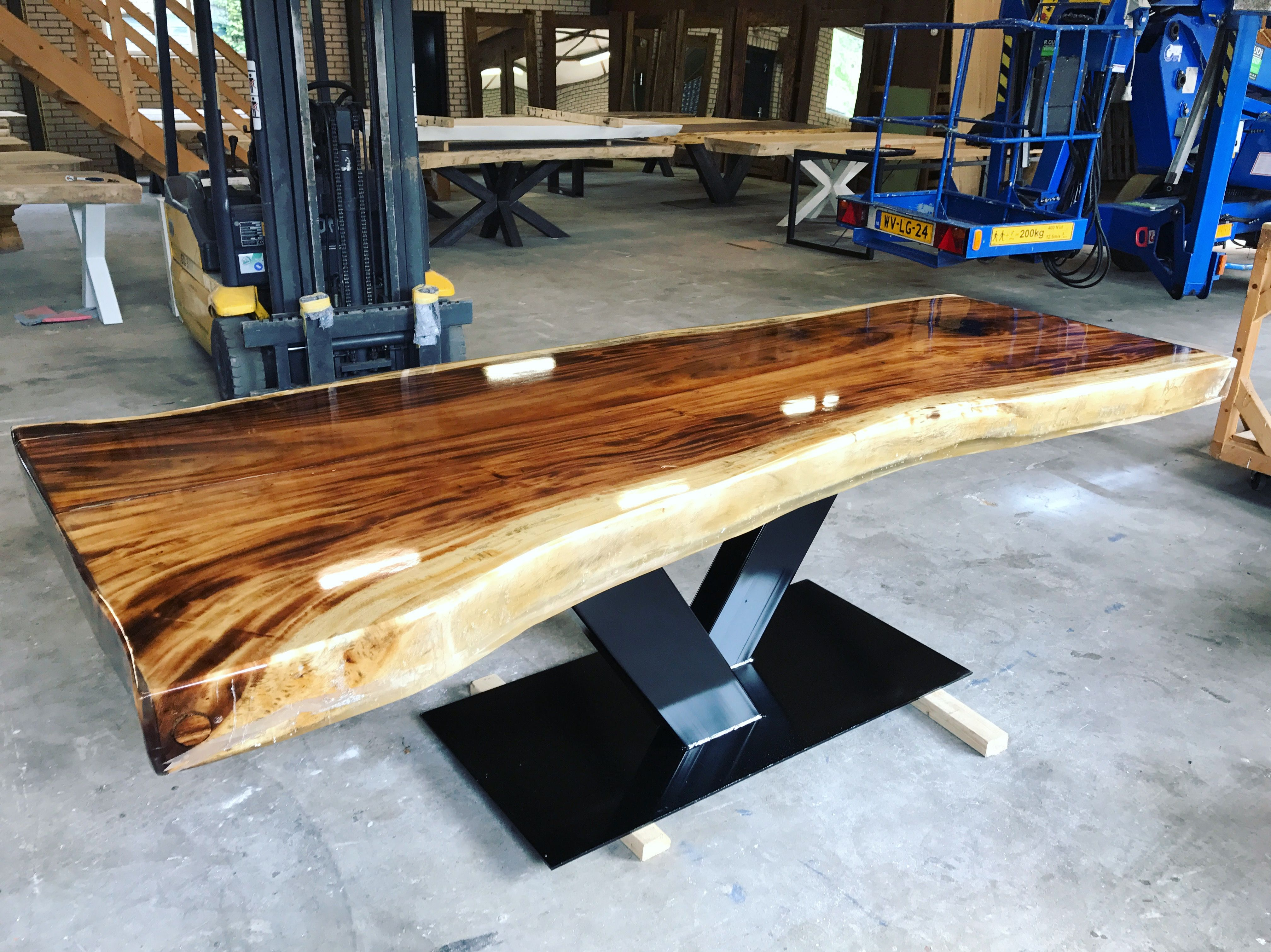 Natural Living Meubelen : Epoxy resin table suar! get yours!! 👌 by nature living meubels