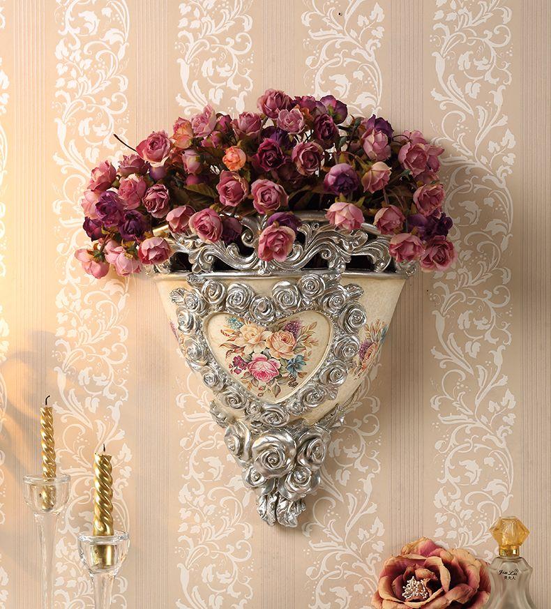 Yolife jarrn decorativo de pared europeo retro flores artificiales