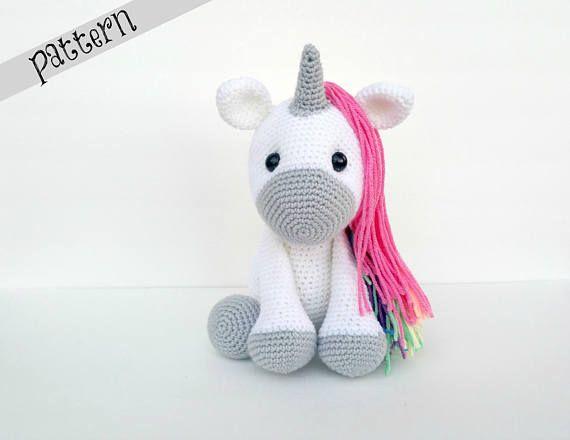 Amigurumi Unicorn : Unicorn crochet pattern crochet unicorn amigurumi unicorn doll