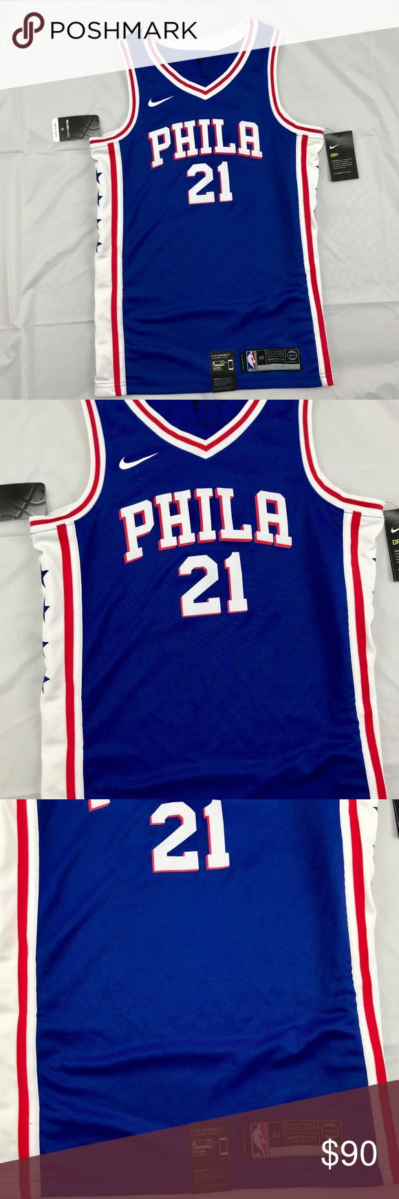 best loved 9eaa7 977b6 Nike NBA Philadelphia 76ers Joel Embiid Jersey Nike NBA ...